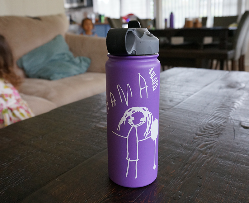 Custom Water Bottle Decals Using Your Child S Artwork